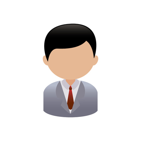 specific: abstract person with a specific profession on a white background Illustration