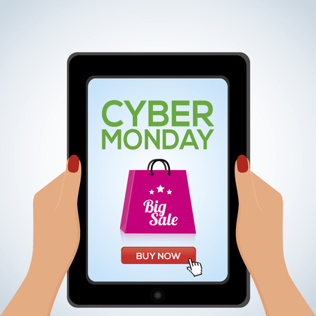 abstract cyber monday object on a white background Illustration