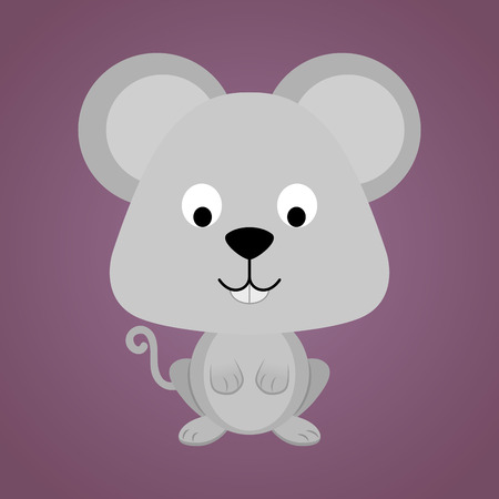 cute mouse: abstract cute mouse on a purple background