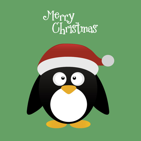 pinguin: abstract cute merry christmas background with some special objects