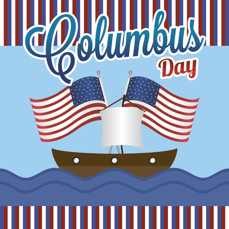 abstract columbus day background with some special objects