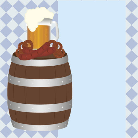 german tradition: abstract oktoberfest background with some special objects Illustration