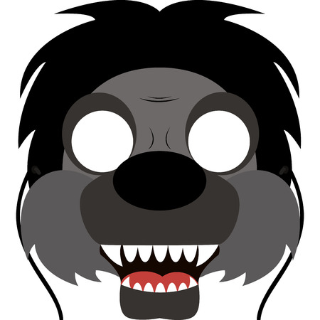 abstract cute halloween mask on a white background Illustration