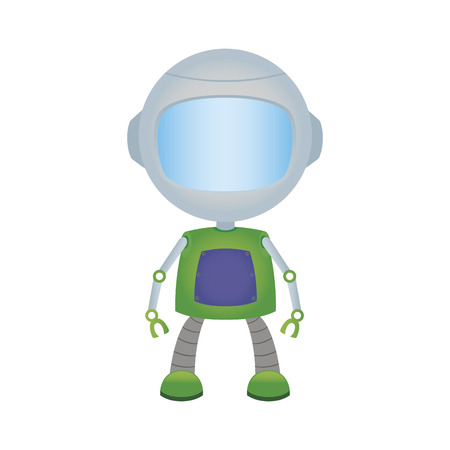 iron fun: abstract cute robot on a white background