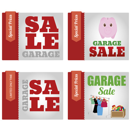 abstract garage sale objects on a white background Vector