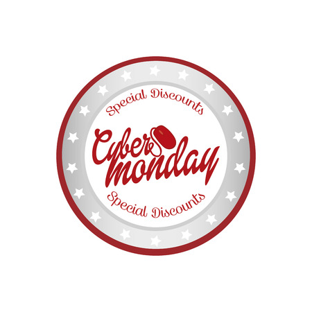 abstract cyber monday object on a white background Vector