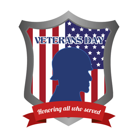 veteran: abstract veteran day object on a white background Illustration