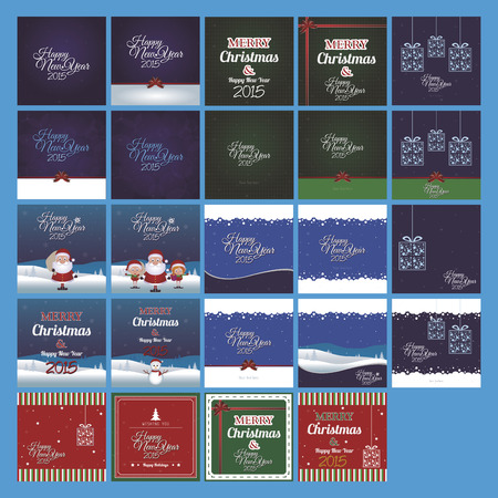 christmas backgrounds: a set of different colored christmas backgrounds with text Illustration