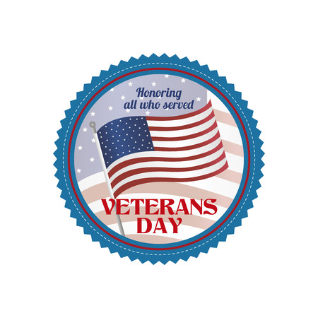 abstract veteran day object on a white background Illustration
