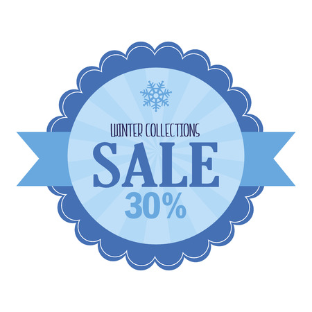 xmax: abstract winter sale object on a white background Illustration