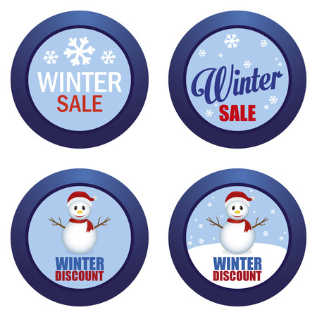 xmax: abstract winter sale objects on a white background Illustration