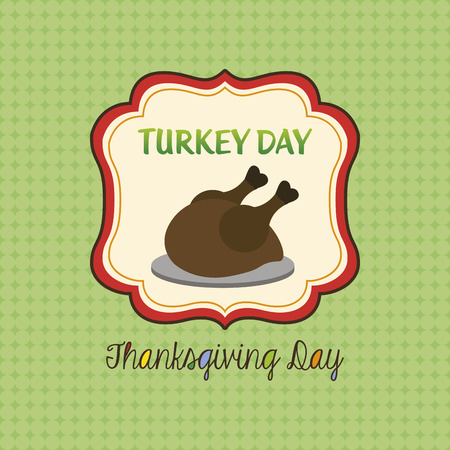 roasted turkey: a colored background with a roasted turkey for thanksgiving day Illustration