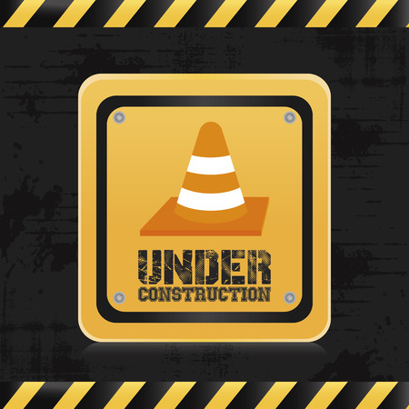 under control: a colored background with an industrial signal