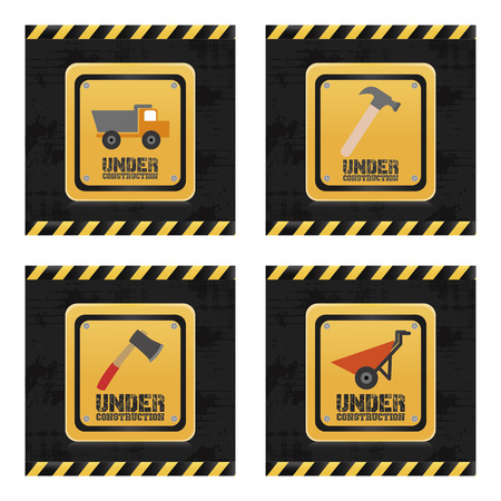 under control: a set of colored backgrounds with different industrial signals