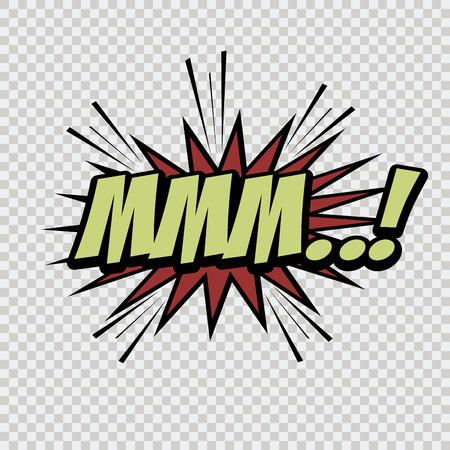 onomatopoeia: isolated comic speech bubble on a textured background. Vector illustration Illustration