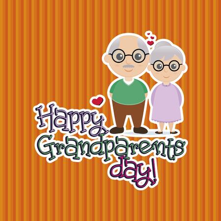 Un fondo de color con un par de abuelos y texto Foto de archivo - 38705337