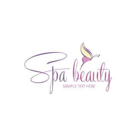 butterfly women: Isolated spa icon on a white background. Vector illustration Illustration
