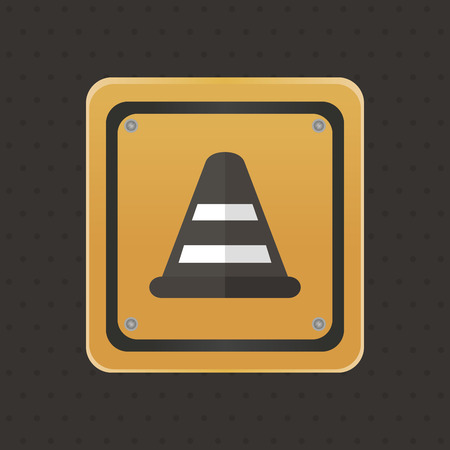 Isolated under construction icon on a black background. Vector illustration illustration