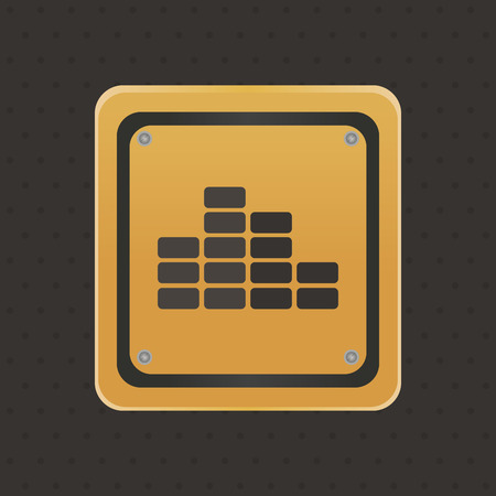 under construction icon: Isolated under construction icon on a black background. Vector illustration
