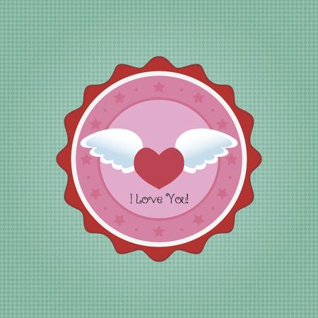 alas de angel: Etiqueta redonda aislada con el texto sobre un fondo con textura. Ilustraci�n vectorial