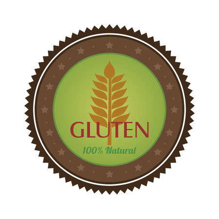 biodegradable: Isolated gluten free label with text. Vector illustration
