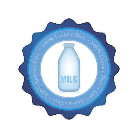 lactose: Isolated label with text and lactose free products. Vector illustration Illustration
