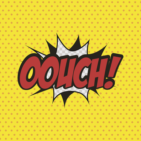 onomatopoeia: Isolated comic speech bubble on a colored background. Vector illustration