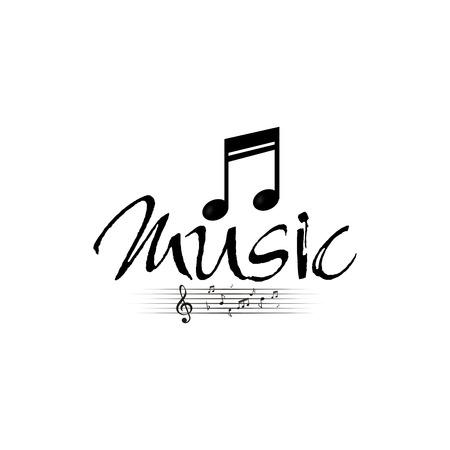 pentagramma musicale: Isolata nota musicale su uno sfondo bianco. Illustrazione vettoriale