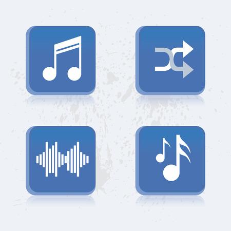 shuffle: Set of media icons on a white background. Vector illustration Illustration