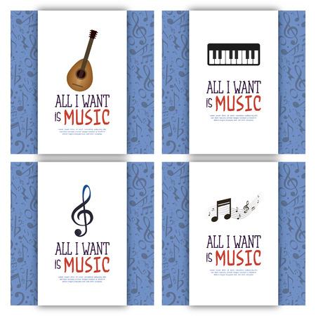 pentagramma musicale: musica di sfondo astratto con alcuni oggetti speciali