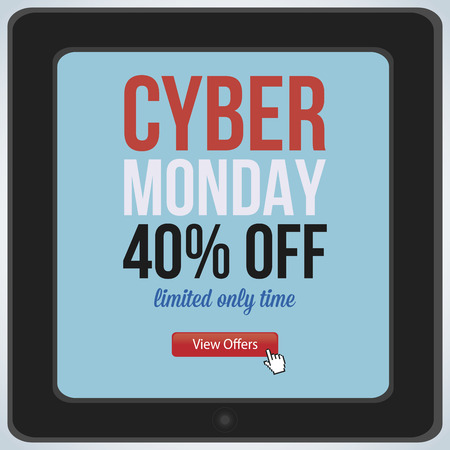 abstract cyber monday background with some special objects Vector