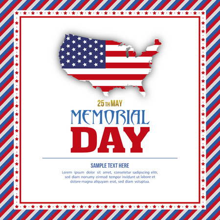 abstract memorial day with some special objects Vector