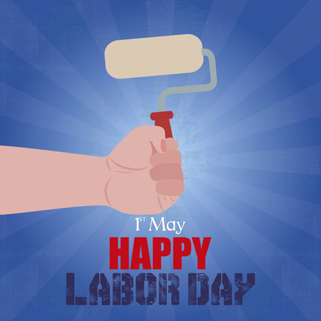 abstract labor day background with some special objects Vector