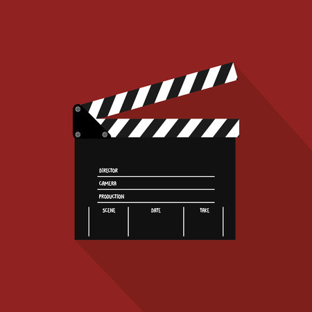buttered: abstract cinema object on a special red background