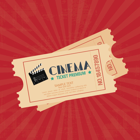 abstract cinema object on a special red background