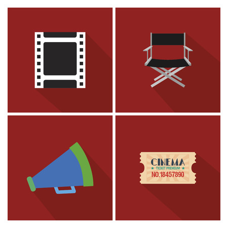buttered: abstract cinema objects on a special red background