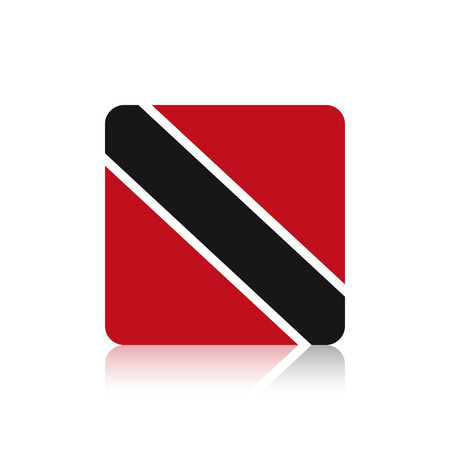 trinidad and tobago: Abstract Trinidad and Tobago flag on a white background