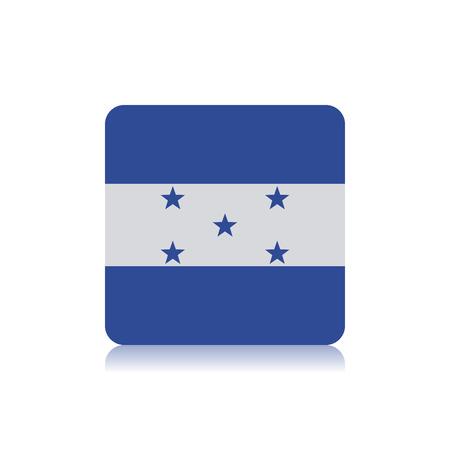bandera de honduras: Bandera Resumen Honduras sobre un fondo blanco