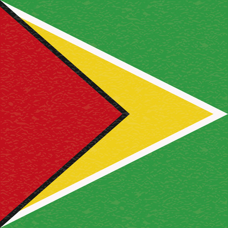 guyana: Abstract Guyana flag with a grunge texture