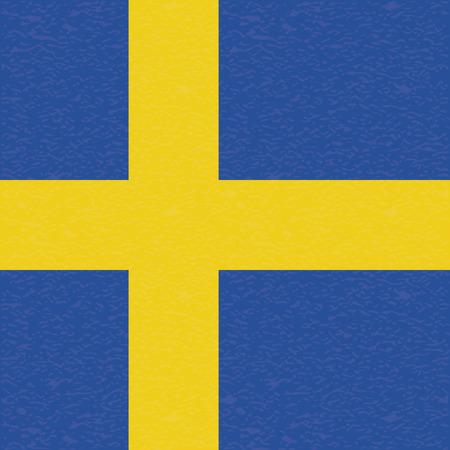 bandera suecia: abstracta bandera de Suecia con una textura grunge
