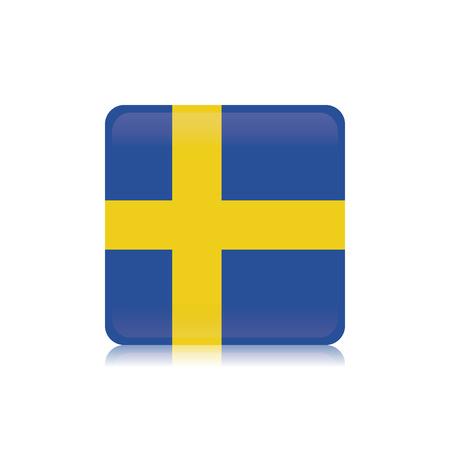 sweden flag: Abstract Sweden flag on a white background