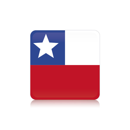 flag of chile: Bandera de Chile Resumen sobre un fondo blanco Vectores