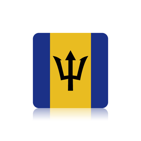 barbados: Abstract Barbados flag on a white background Illustration