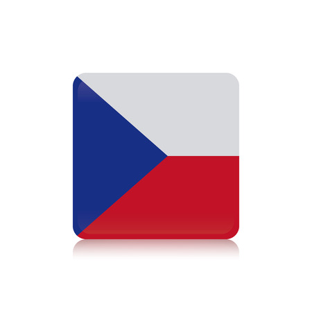 czechoslovakia: Abstract Czechoslovakia flag on a white background