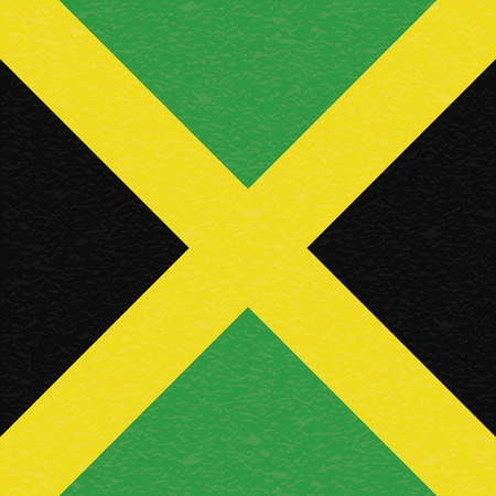 jamaica: Abstract Jamaica flag with a grunge texture Illustration