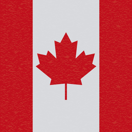 canada flag: Abstract Canada flag with a grunge texture Illustration