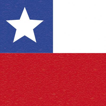 bandera de chile: abstracta bandera de Chile con una textura grunge