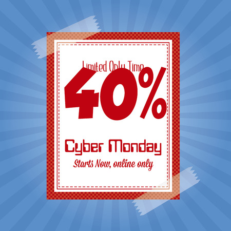 abstract cyber monday background with some special objects Illustration