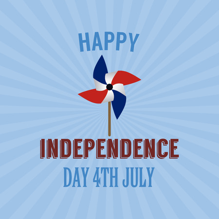 abstract independence day background with some special objects Illustration