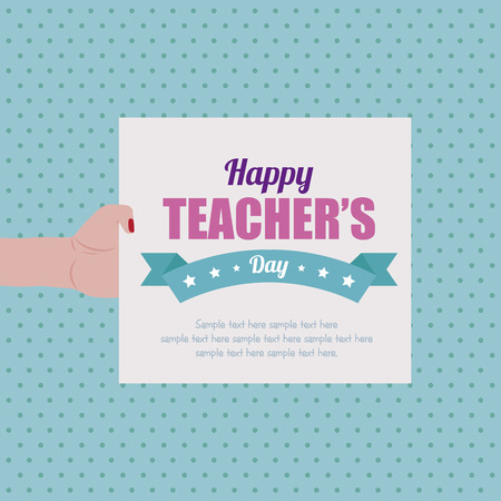 teacher in class: Abstract Teachers day background Illustration